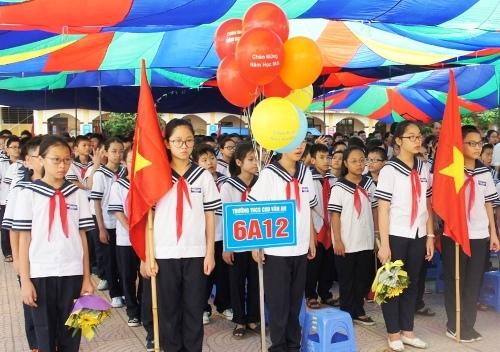 Bắt đầu từ năm học 2020-2021, học sinh trường THCS Chu Văn An cũng như học sinh các cấp bậc học mầm non, tiểu học và THCS và bổ tục THCS trên địa bàn Hải Phòng được miễn 100% học phí. Ảnh: NP