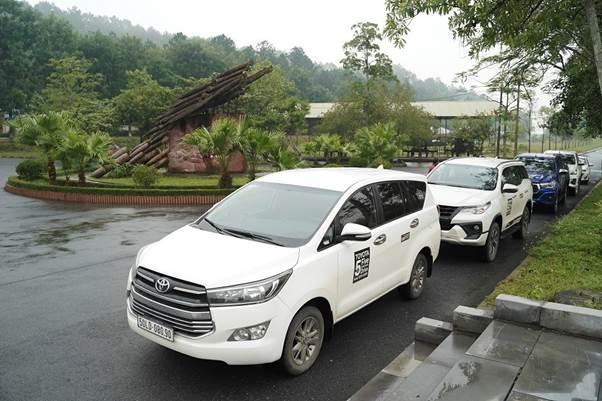 Những chiếc xe Toyota tham gia dự án.