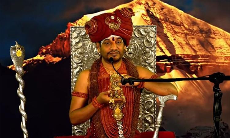 Thánh nhân Nithyananda Swami tuyên bố lập quốc gia riêng Kailaasa trong video đăng trên YouTube ngày 5/12. Ảnh chụp màn hình.
