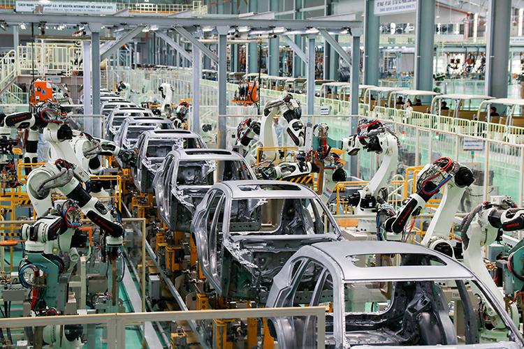 Xe Kia ở nhà máy tại Chu Lai. Ảnh: Đức Huy