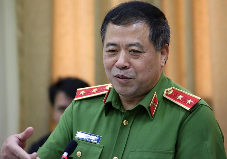 Trung tướng Phạm Văn Các nói về chuyên án. Ảnh: Quốc Thắng.