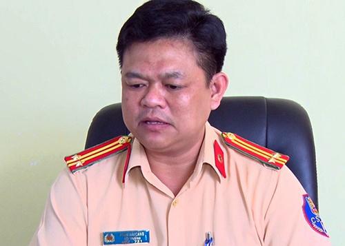 Thượng tá Phạm Hải Cảng. Ảnh: Hoàng Trường.