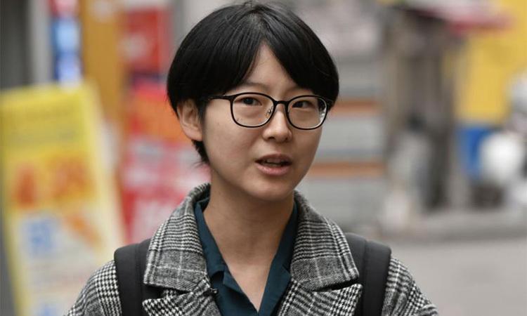 Yoon Ji-hye, 24 tuổi, thành viên phong trào Escape the Corset ở Hàn Quốc. Ảnh: AFP.