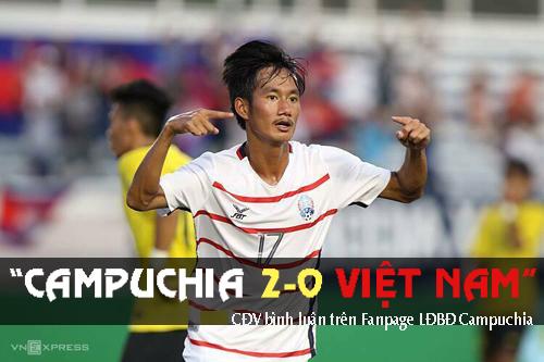 Một CĐV dự đoán U22 Campuchia thắng 2-0.