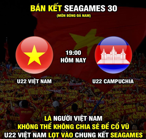 Tất cả NHM bóng đá Việt Nam cũng đều hướng về trận bán kết gặp Campuchia.