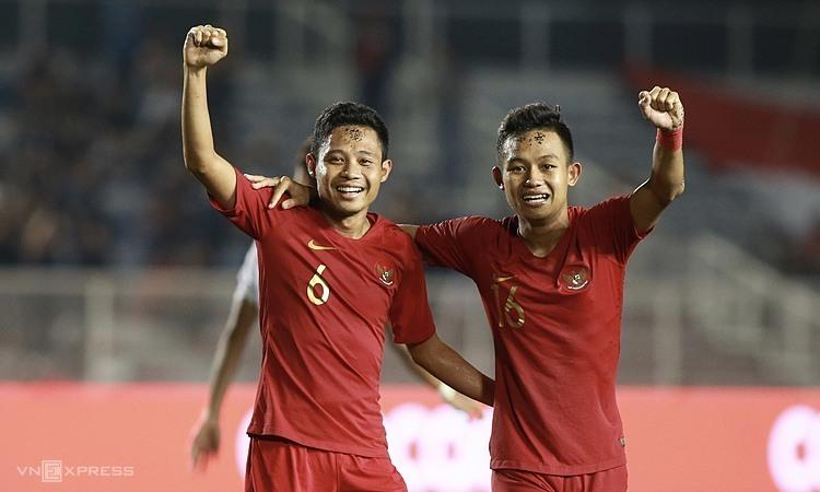 Indonesia tái ngộ Việt Nam ở chung kết, sau khi thua ngược 1-2 ở cuộc đối đầu giữa hai đội tạivòng bảng. Ảnh: Lâm Thỏa.