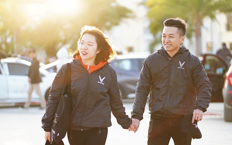 Võ Diệu Linh cùng bạn trai Trần Xuân Đài.