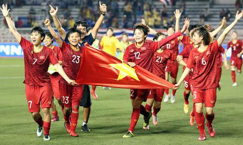 Việt Nam giành HC vàng bóng đá nữ