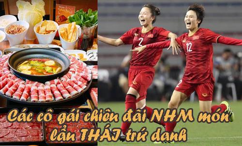 Cuối tuần NHM bóng đá được các cô gái vàng đã món lẩu Thái ngon tuyệt.