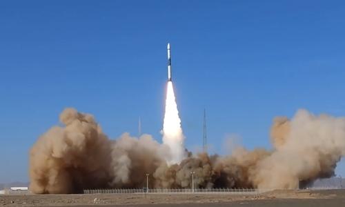 Tên lửa Kuaizhou-1A mang sáu vệ tinh lên quỹ đạo. Ảnh: China News.