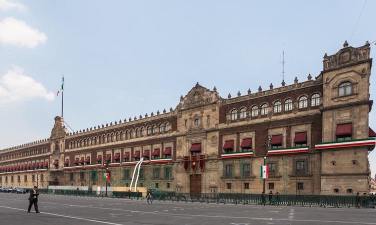 Cung điện Quốc gia Mexico ở thủ đô Mexico City, nơi ở của Tổng thống. Ảnh: Wikipedia.