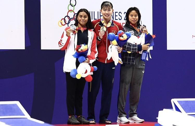 Ánh Viên không đạt chỉ tiêu giành 8 HC vàng tại SEA Games 30. Ảnh: Quang Huy.