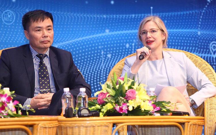 Bà Ann Mawe, Đại sứ Thụy Điển tại Việt Nam cho rằng hành lang pháp lý minh bạch sẽ thuận lợi cho doanh nghiệp khởi nghiệp. Ảnh: Văn Quyết.