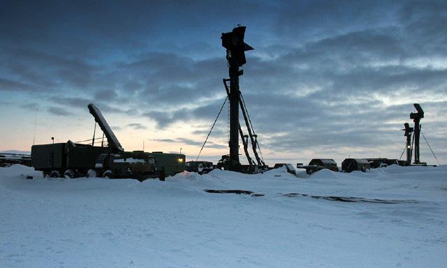 Hệ thống S-400 được Nga triển khai tại Bắc Cực. Ảnh: TASS.