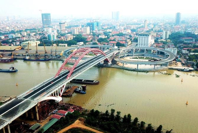 Cầu Hoàng Văn Thụ. Ảnh: Giang Chinh.