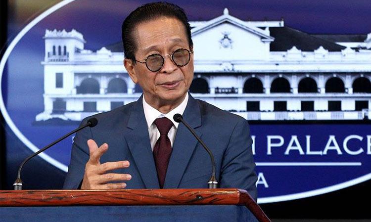 Phát ngôn viên của Tổng thống Duterte, Salvador Panelo trong một hình đăng Facebook năm 2018. Ảnh: Facebook/Salvador Panelo.