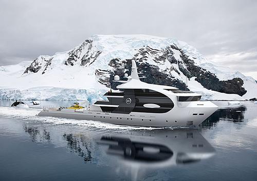 Bản khái niệm của siêu du thuyền Project Orca. Ảnh: Super Yacht Times.