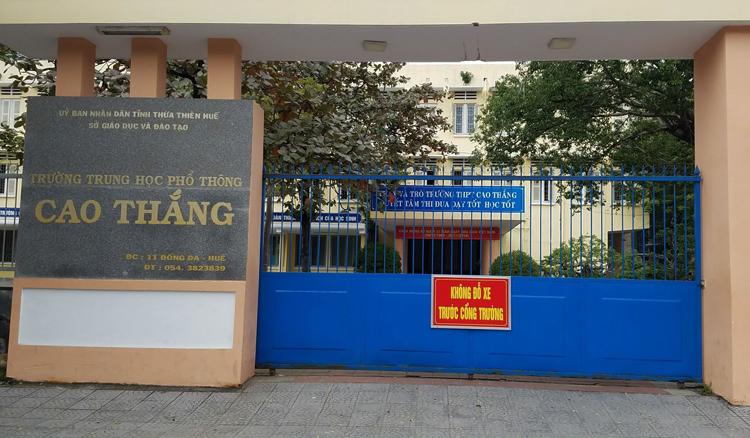 Trường THPT Cao Thắng. Ảnh: Võ Thạnh