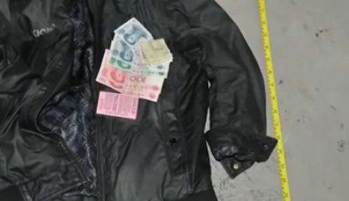 Túi áo Thành vẫn còn 300 tệ, chứng tỏ động cơ gây án không phải cướp tài sản. Ảnh: CCTV.