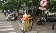 Cảnh sát ma nơ canh điều khiển giao thông