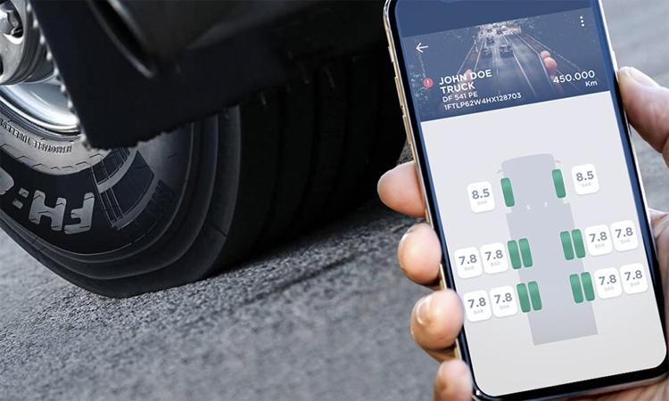 Lốp xe Pirelli kết nối qua mạng 5G. Ảnh: Pirelli