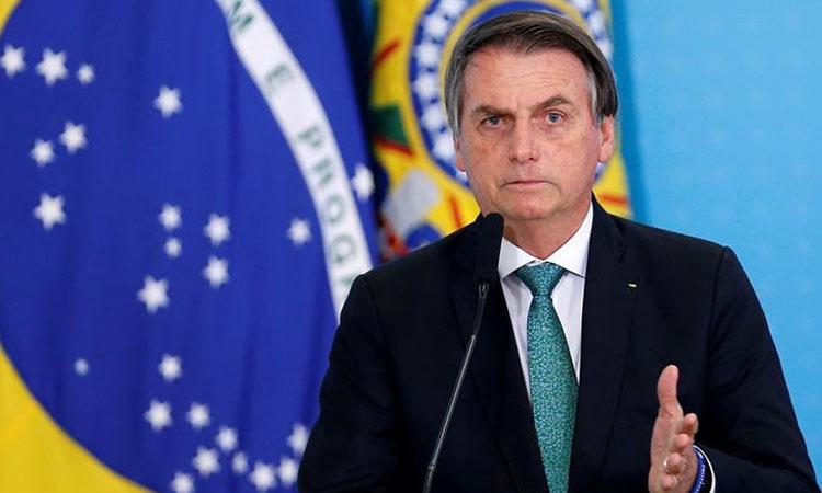 Tổng thống Brazil Bolsonaro phát biểu ở Brasilia, Brazil ngày 24/7. Ảnh: Reuters.