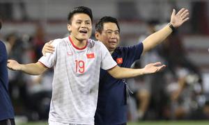 Quang Hải không kịp vào thay người cuối trận đấu Indonesia Sea Games 2019 - VnExpress