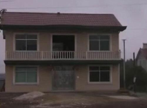 Căn nhà hai tầng của Thành được xây tách biệt. Ảnh: CCTV.