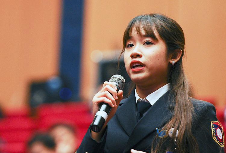 Đại biểu Nguyễn Thị Hương Giang. Ảnh: Dương Triều