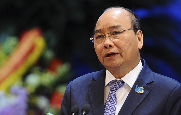 Thủ tướng Nguyễn Xuân Phúc phát biểu tại chương trình đối thoại. Ảnh: Dương Triều