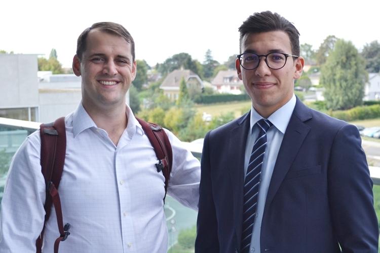 Wassim Dhaouad (phải) và John Kolinski. Ảnh: EPFL