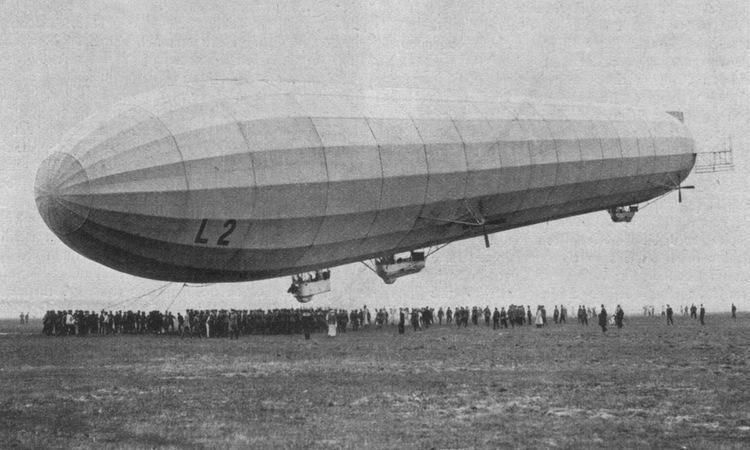 Khí cầu trinh sát - ném bom của Đức thử nghiệm năm 1913. Ảnh: Wikipedia.