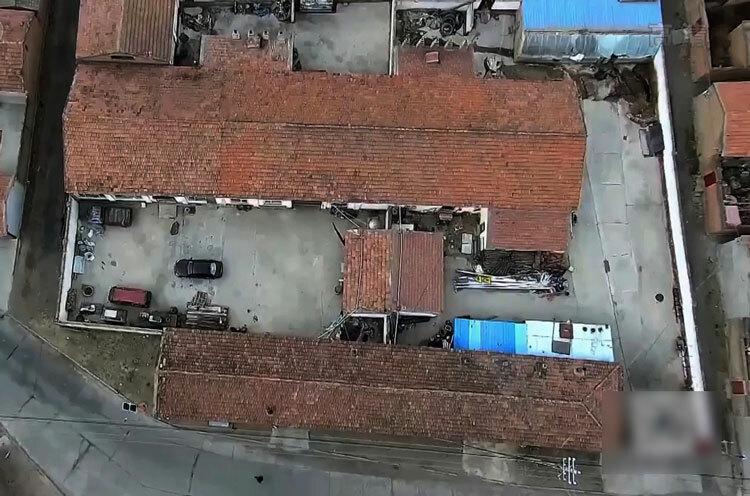 Căn nhà xây theo hình chữ U của vợ chồng Lan. Ảnh: CCTV.