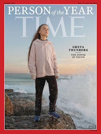 Thunberg được Time chọn là Nhân vật của năm. Ảnh: Time