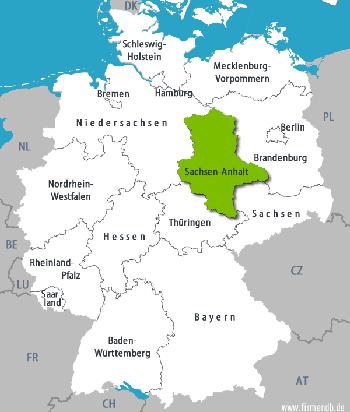 Vị trí bang Sachsen-Anhalt trên bản đồ. Đồ họa: fm.