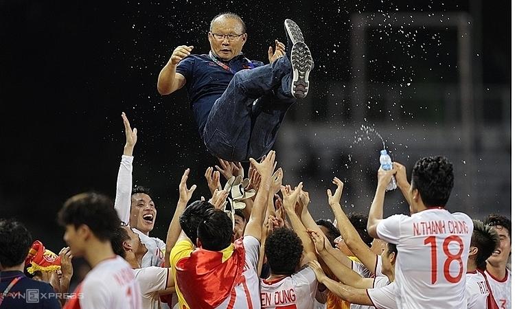 Thành công của Việt Nam ở SEA Games có dấu ấn đậm nét của thầy Park. Ảnh: Giang Huy.