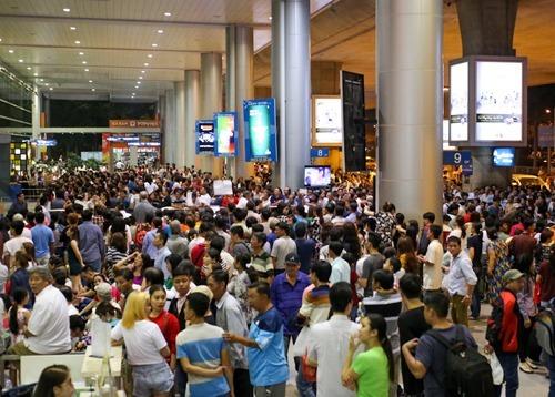 Sân bay Tân Sơn Nhất vào dịp Tết 2019. Ảnh: Quỳnh Trần