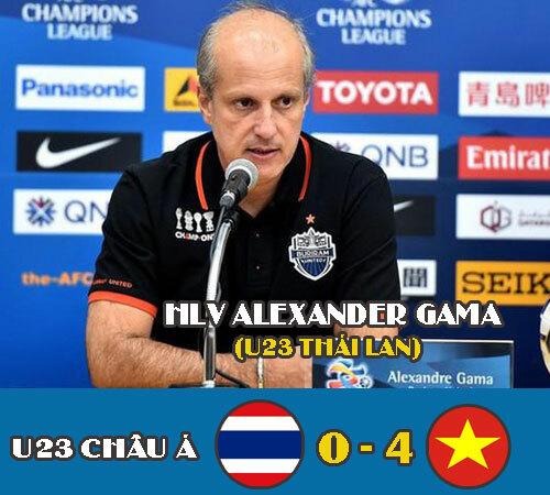 Thảm bại trước U23 Việt Nam, Alexander Gama mất ghế HLV trưởng U23 Thái Lan.