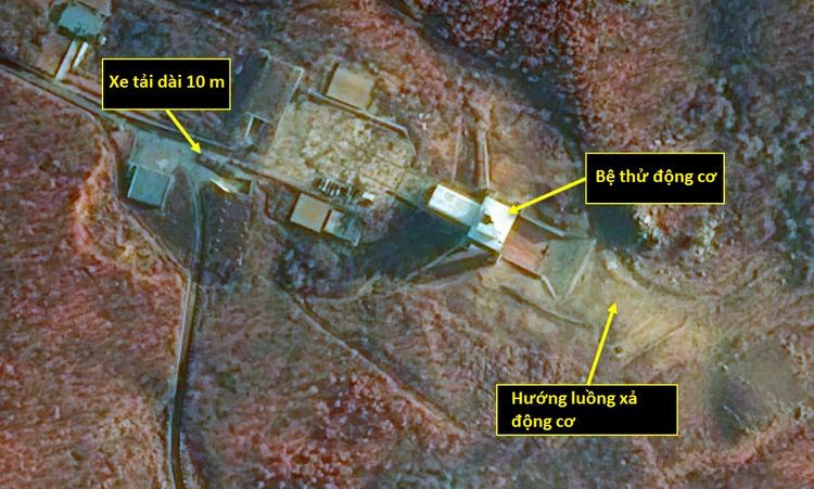 Ảnh vệ tinh chụp khu thử động cơ tại bãi phóng Sohae hôm 11/12. Ảnh: Planet Labs.