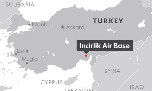 Vị trí căn cứ không quân Incirlik. Đồ họa: USA Today.