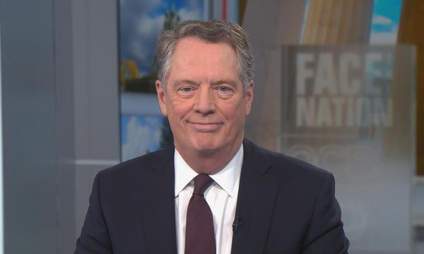 Đại diện thương mại Mỹ Lighthizer trong cuộc phỏng vấn hôm 15/12. Ảnh: CBS News.