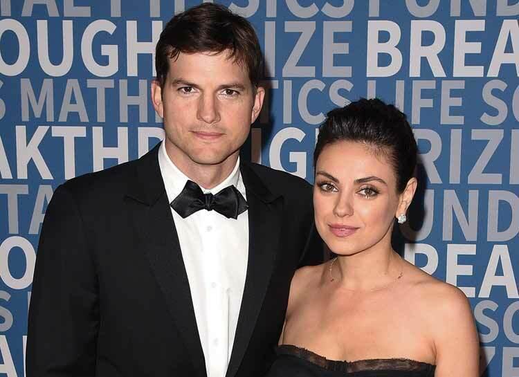Vợ chồng Mila Kunis và Ashton Kutcher. Ảnh:Film Magic.