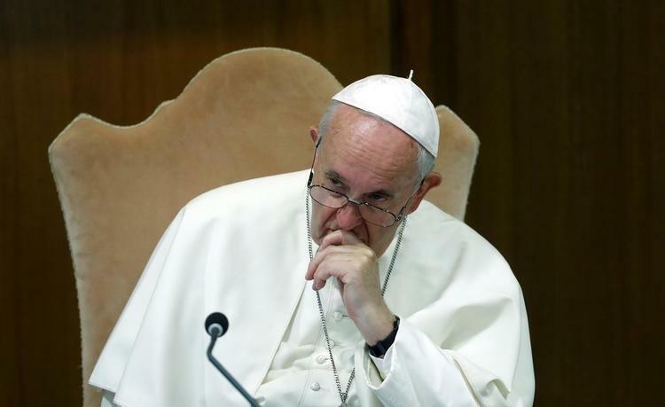 Giáo hoàng Francis tại hội nghị giám mục vùng Amazon tại Vatican hôm 7/10. Ảnh: Reuters.