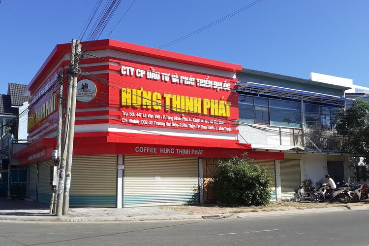 Chi nhánh Công ty CP Đầu tư và Phát triển địa ốc Hưng Thịnh Phát tại TP Phan Thiết ngày 19/12. Ảnh: Việt Quốc