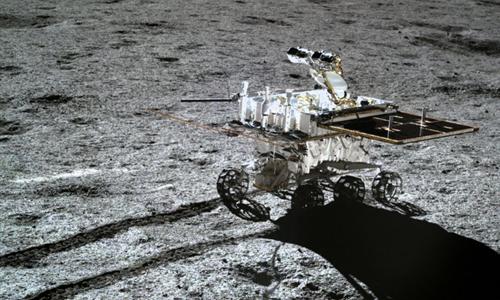 Robot Thỏ Ngọc 2, kỷ lục gia mới trên Mặt Trăng. Ảnh: Space.