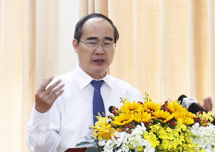 Bí thư Thành ủy TP HCM Nguyễn Thiện Nhân. Ảnh: Trung Sơn