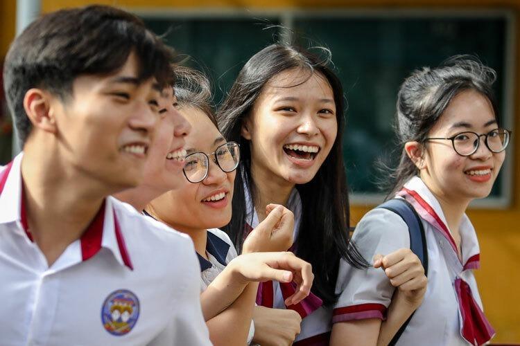 Thí sinh dự thi THPT quốc gia tại TP HCM. Ảnh: Thành Nguyễn.