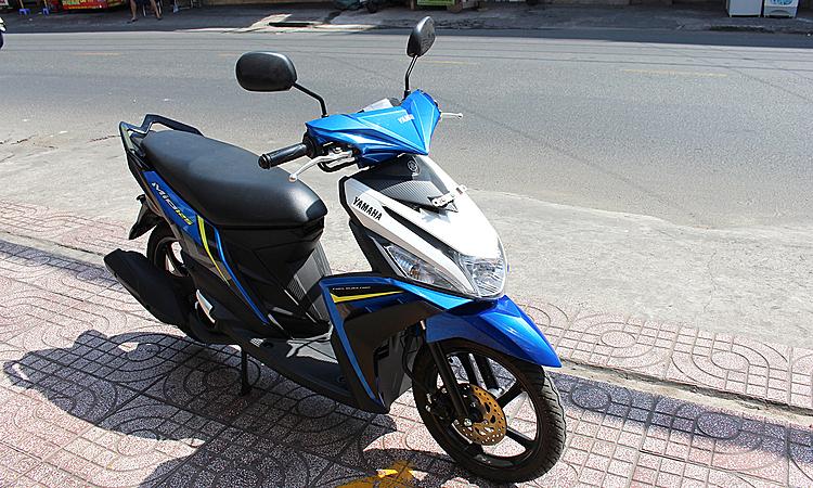 Yamaha Mio 125 mới tại một đại lý ở quận Gò Vấp, TP HCM.