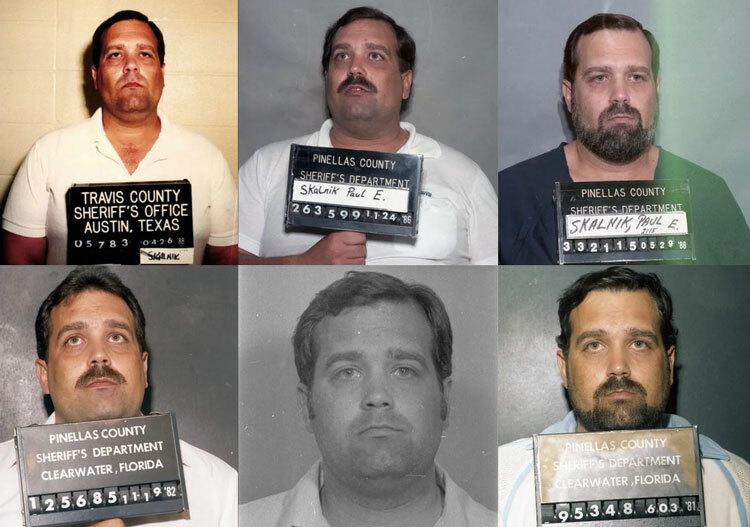 Một số bức ảnh chụp khi bị bắt của Paul, trải khắp một thập kỷ phạm tội. Ảnh: The New York Times.