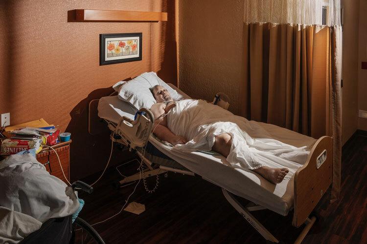 Paul sống tại khu nhà bệnh xá tại bang Texas vào tháng 10. Ảnh: Eli Durst/The New York Times